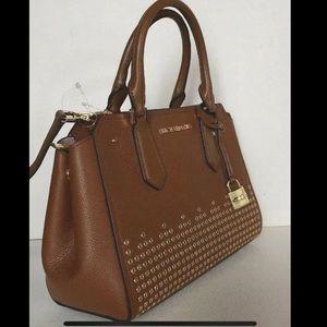 Michael Kors Brown leather handbag purse Crossbody